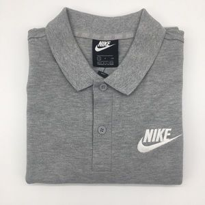 Nike gray polo short sleeve shirt cotton men's